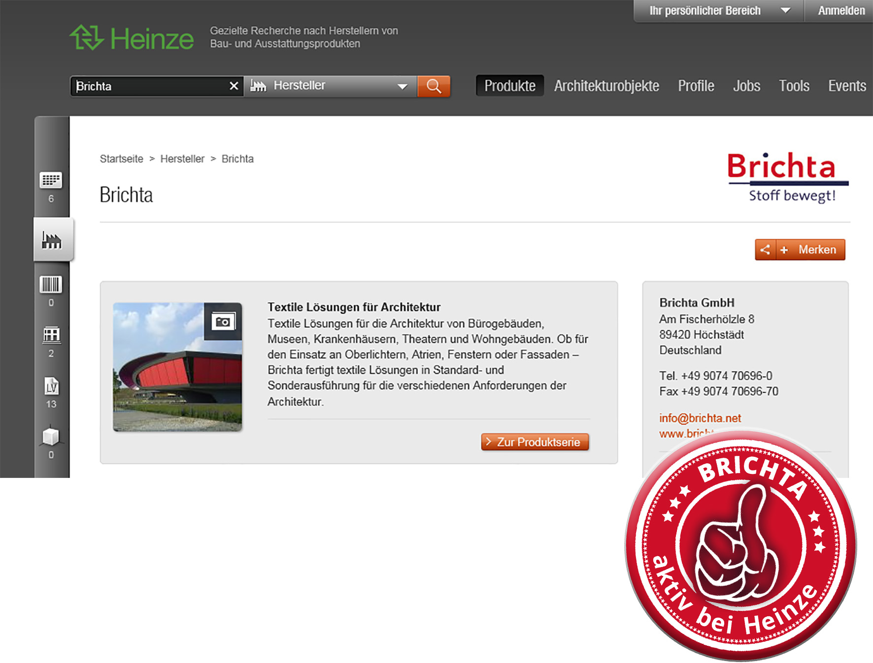 Homepage Heinze Brichta Button